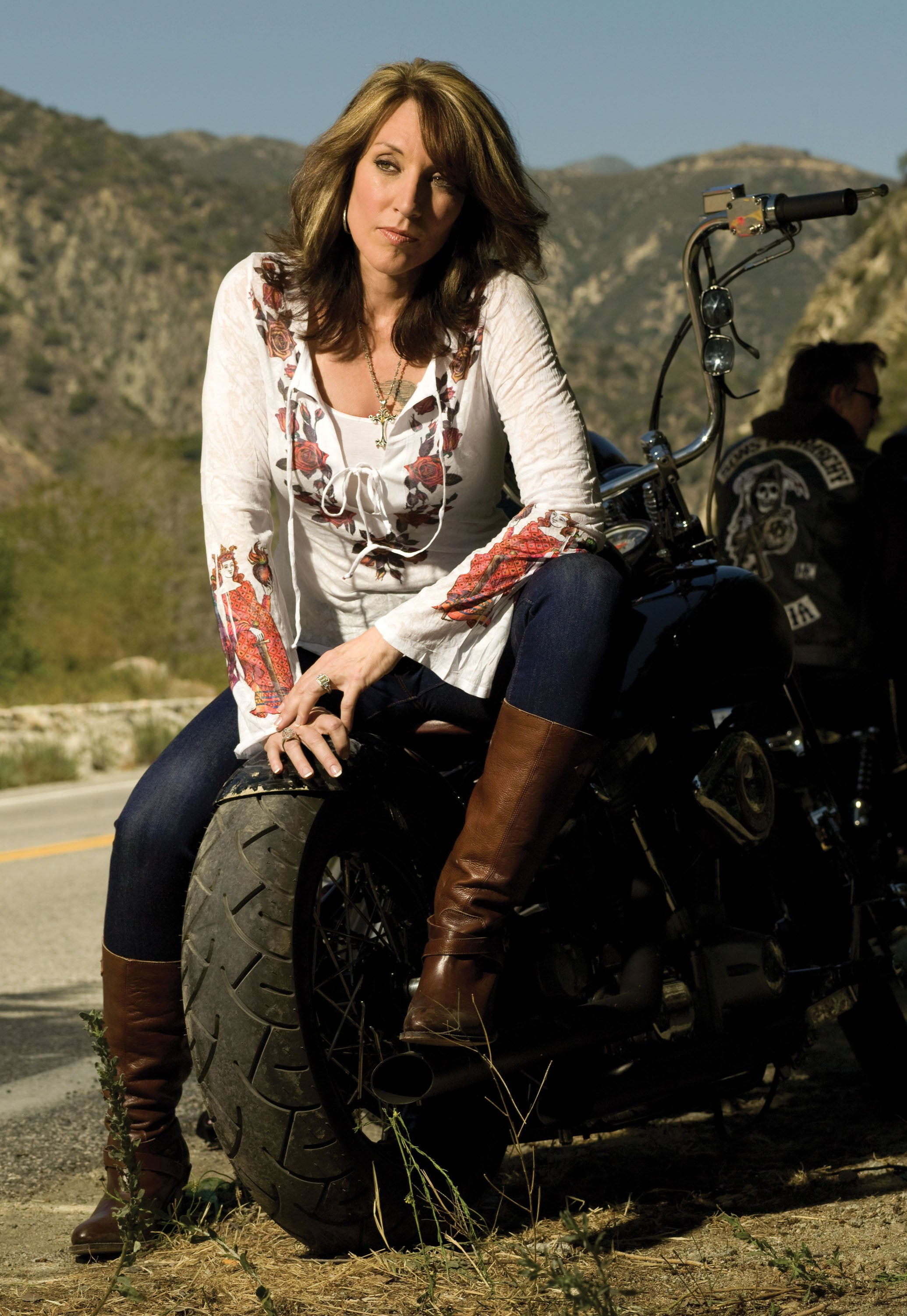 SONS OF ANARCHY: Gemma's Brown Healed Long Boots