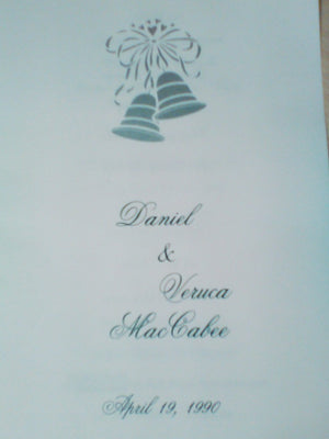Screenbid Media Company, LLC. - Daniel and Veruca Mac Cabee Wedding Invitation