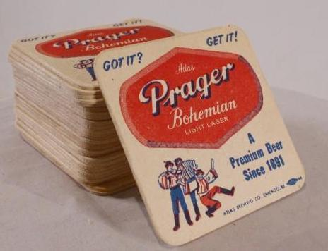 Mad Men: Prager Beer Coasters-1