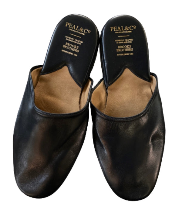 SILICON VALLEY: Gavin Belson's Black Leather Slippers-1