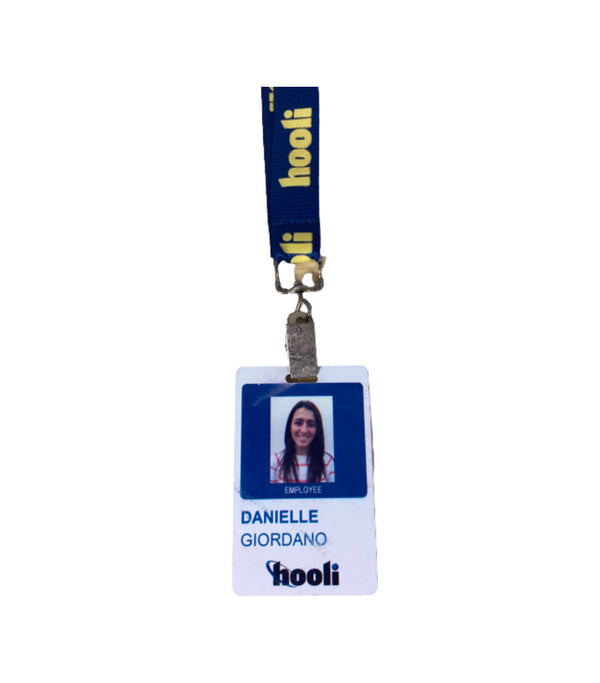 SILICON VALLEY: Danielle Giordano's Hooli Employee Badge-1