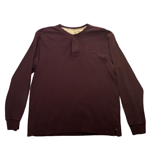 SILICON VALLEY: Gilfoyle's Maroon Long-sleeve Henley-1