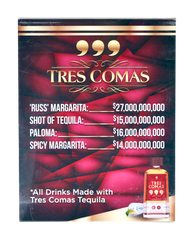 SILICON VALLEY: Tres Comas Tequila Lounge Table Display