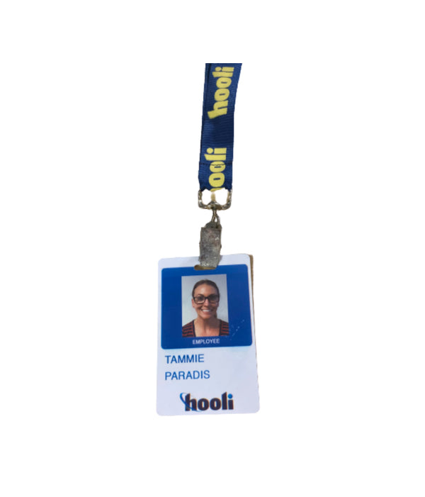 SILICON VALLEY: Tammie Paradis' Hooli Employee Badge-1