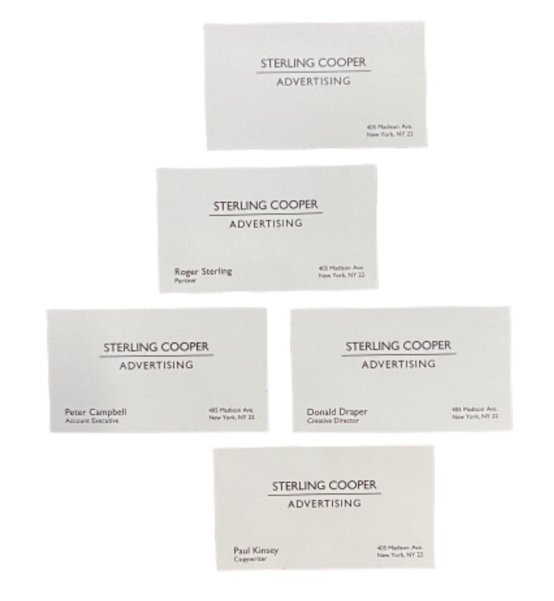 MAD MEN: STERLING COOPER Team Business Cards