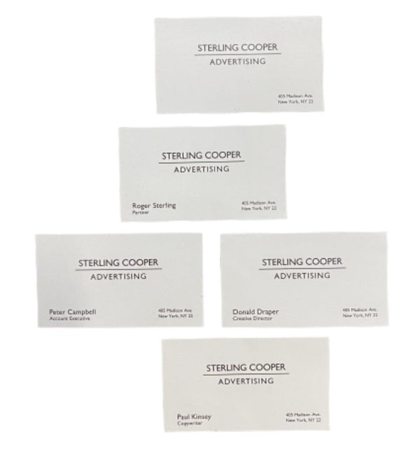 MAD MEN: STERLING COOPER Team Business Cards-1