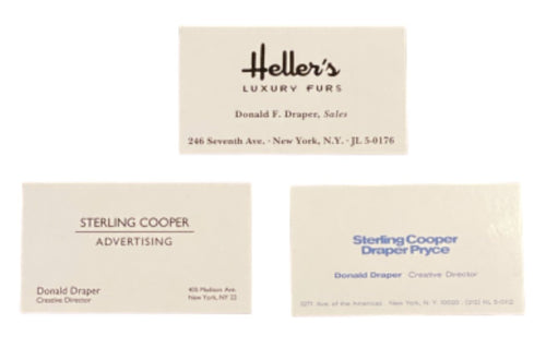 Screenbid Media Company, LLC. - MAD MEN: Don Draper's Business Cards Trifecta (3)