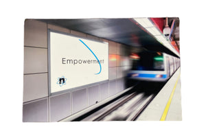 Screenbid Media Company, LLC. - SILICON VALLEY: Hooli Nucleus Subway Advertisement Poster