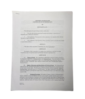 Screenbid Media Company, LLC. - SILICON VALLEY: Amended & Restated Certificate of Incorporation of Retinabyte Inc.