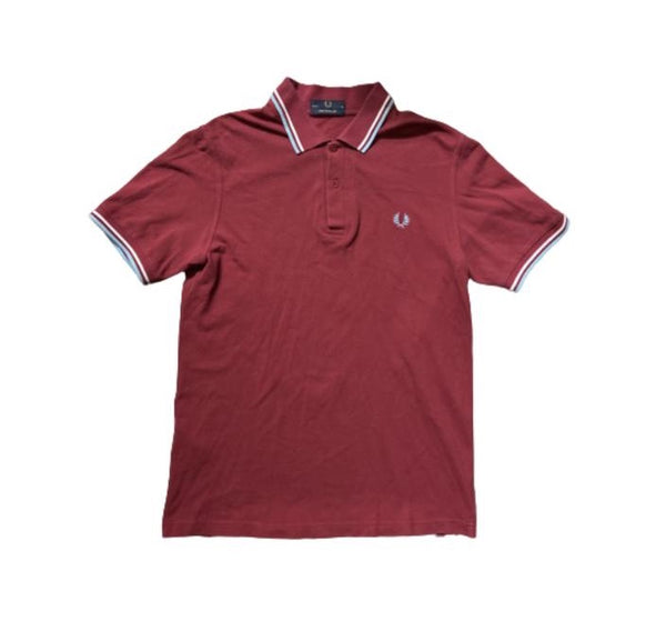 THE GENTLEMEN: Hannibal's Red Fred Perry Polo Shirt-1