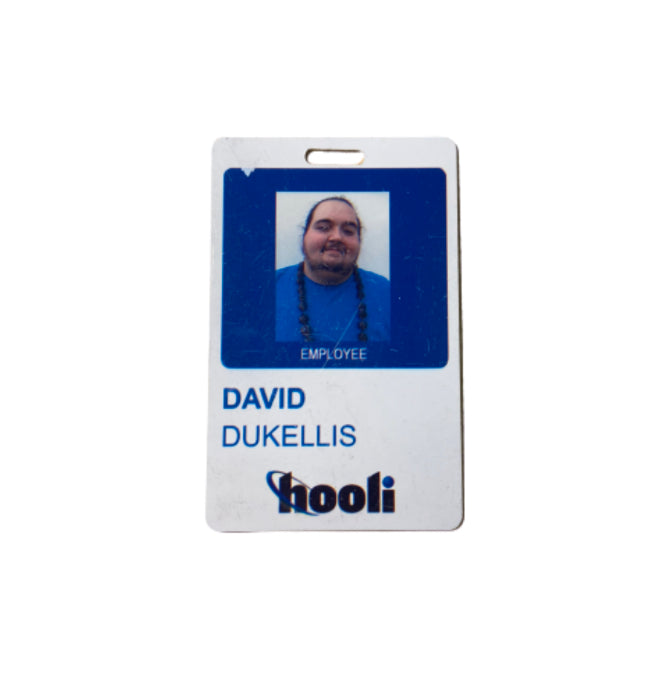 SILICON VALLEY: David Dukellis' Hooli Employee Badge