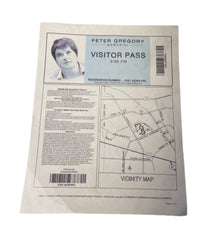 SILICON VALLEY: Peter Gregory's Memorial Directions and Visitor Pass