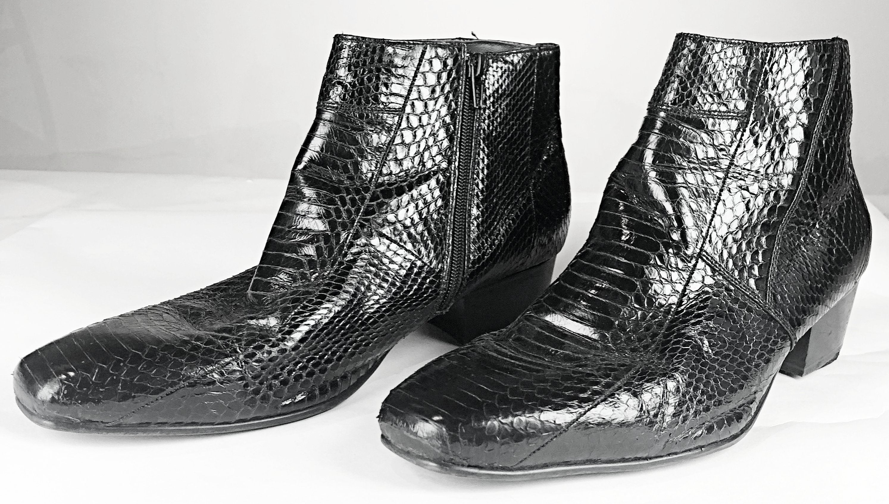 The Get Down - Jackie Moreno's Snakeskin Ankle Boots
