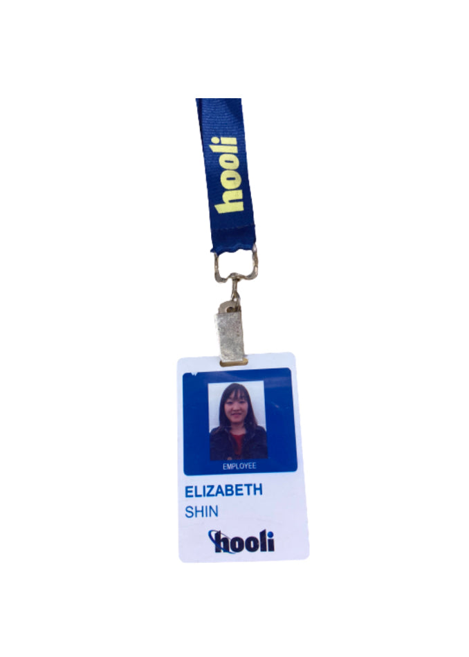 SILICON VALLEY: Elizabeth Shin's Hooli Employee Badge