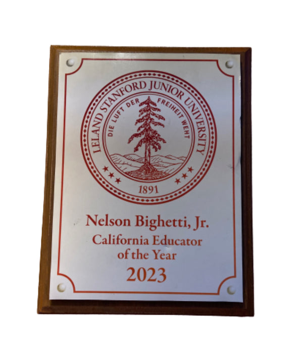 SILICON VALLEY: Big Head's Stanford California Educator of the Year Plaque from Epi. 607-2
