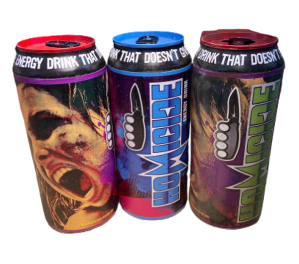 SILICON VALLEY: Homicide Energy Drink Prop Can -Set of 3-1