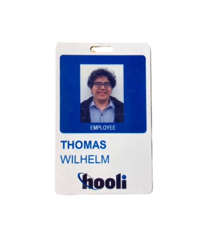 SILICON VALLEY: Thomas Wilhelm's Hooli Employee Badge