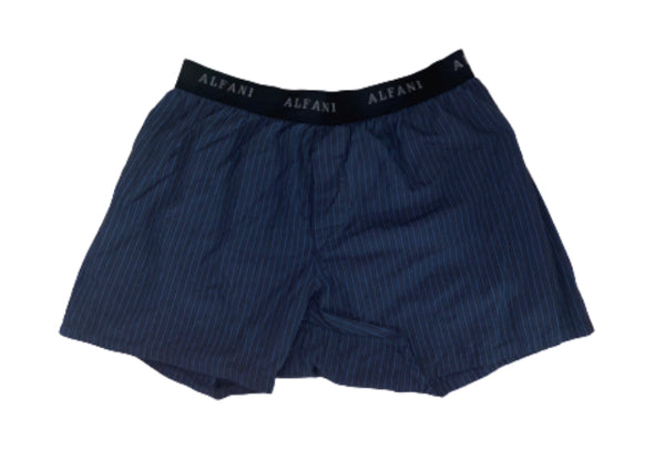 SILICON VALLEY: Erlich's Blue & Black Striped Alfani Boxers-1