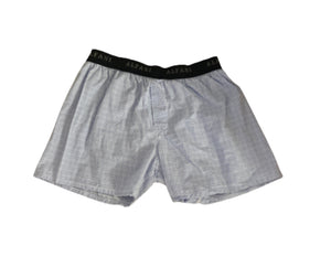 Screenbid Media Company, LLC. - SILICON VALLEY: Erlich's Light Blue Plaid Alfani Boxers