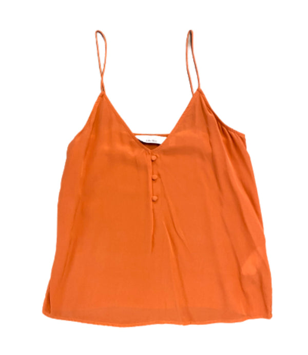 SILICON VALLEY: Monica's Orange Paris Atelier Silk Camisole-1