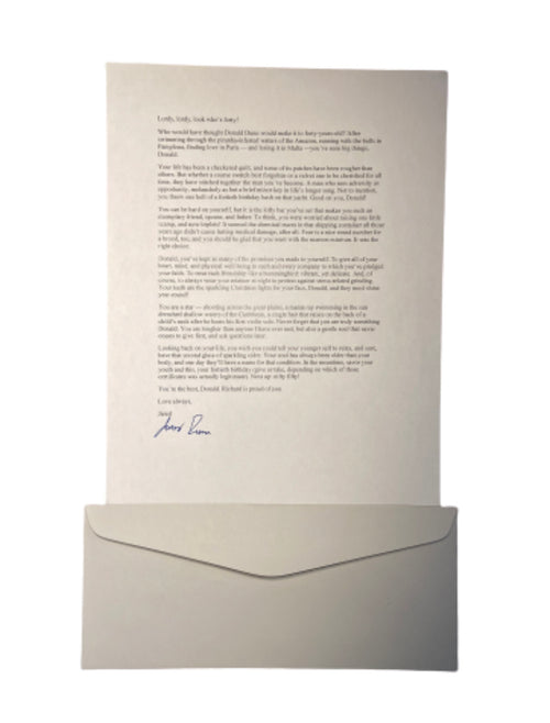 Screenbid Media Company, LLC. - SILICON VALLEY: Jared's Signed Letter to His Forty Year Old Self