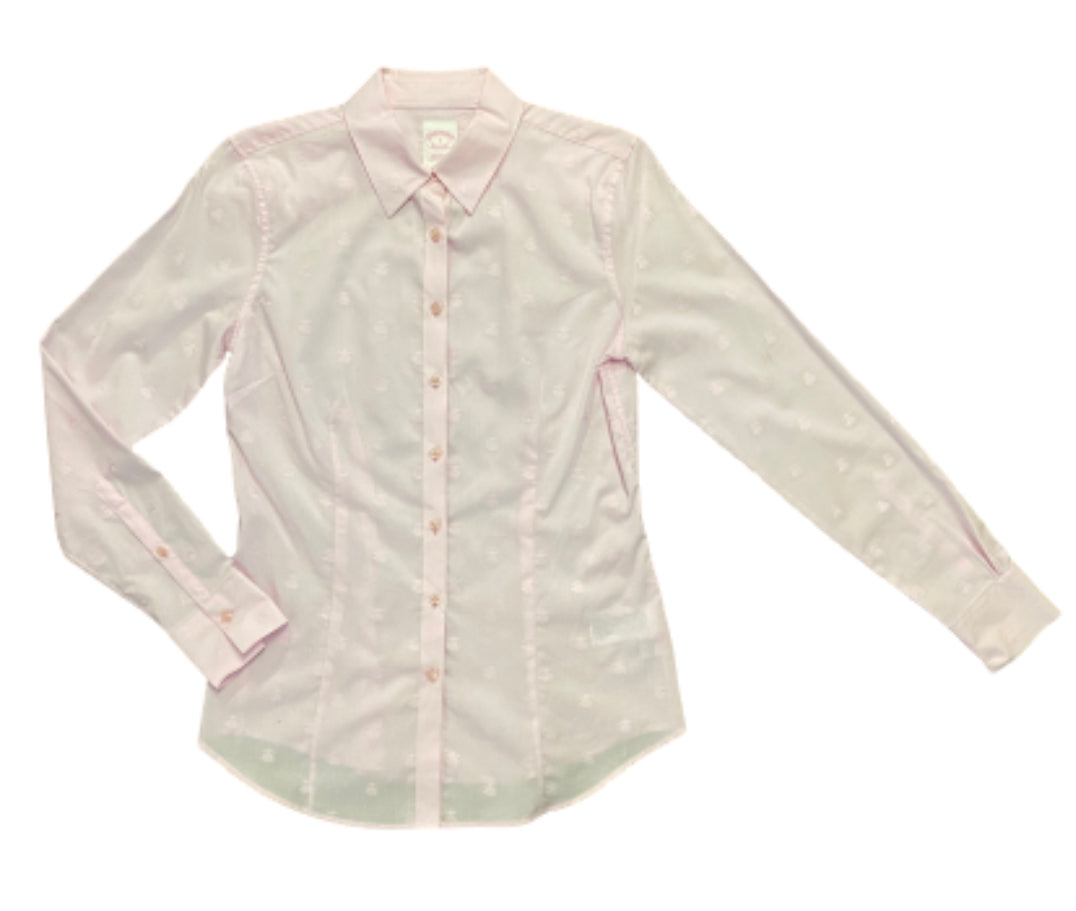 SILICON VALLEY: Monica's Pink Brooks Brothers Button Down Shirt
