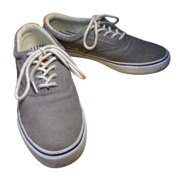 SILICON VALLEY: Dinesh's Grey Sperry Shoes-1