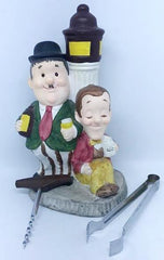Laurel & Hardy Bar Set (Includes cork screw and tongs, missing other utensils)