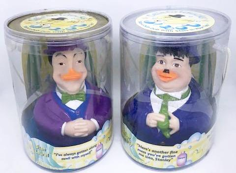 Laurel & Hardy Celebriducks in original packaging (Harmon Pictures, 1999)-1