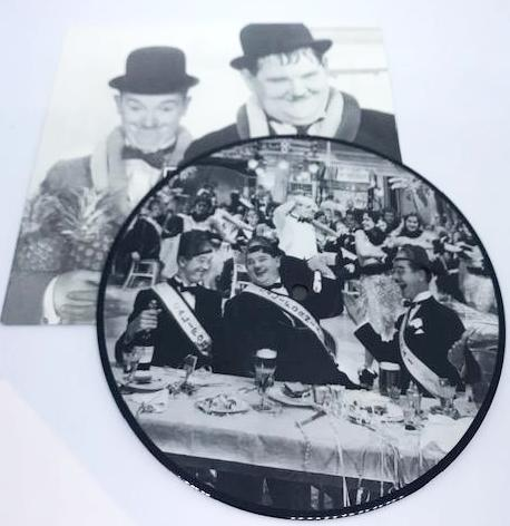 "Laurel & Hardy 7"" LP by Another Fine Mess Records, UK release (Side 1. Honolulu Baby, Side 2. Let Me Call You Sweetheart)-1"