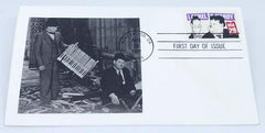 Laurel & Hardy Envelope with Photo and Stamp Post marked from Hollywood 1991.