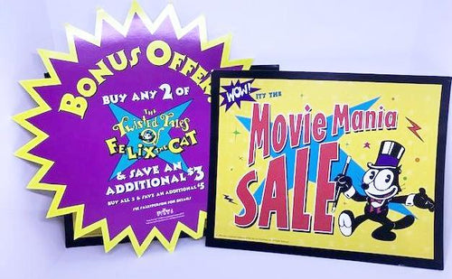 Screenbid Media Company, LLC. - Lot of Felix the Cat Sale Signs.