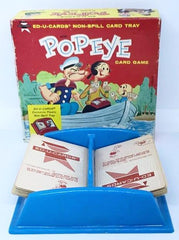 Popeye Ed-U- Card game with Non-Spill Card Tray, 1961