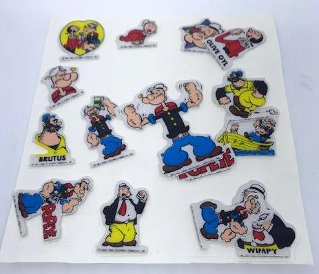 Popeye Puffy Stickers.-1
