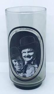 Laurel & Hardy Glass Arby's Collector's Series. Take : 3 of 6-1