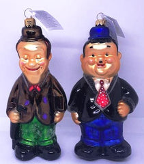 "Laurel and Hardy Christopher Radko Ornaments, 1996. (Both 8"", Mint condition in origingal box)"