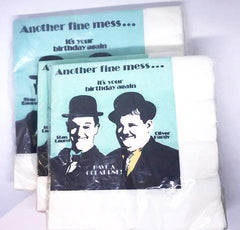 Laurel & Hardy Birthday Napkin lot by Contempo 1987.