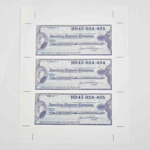 Screenbid Media Company, LLC. - Mad Men: Replica Vintage American Express Traveler's Checks