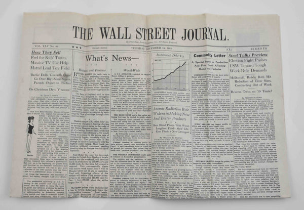 Mad Men: Wall Street Journal from November 24th, 1964-1