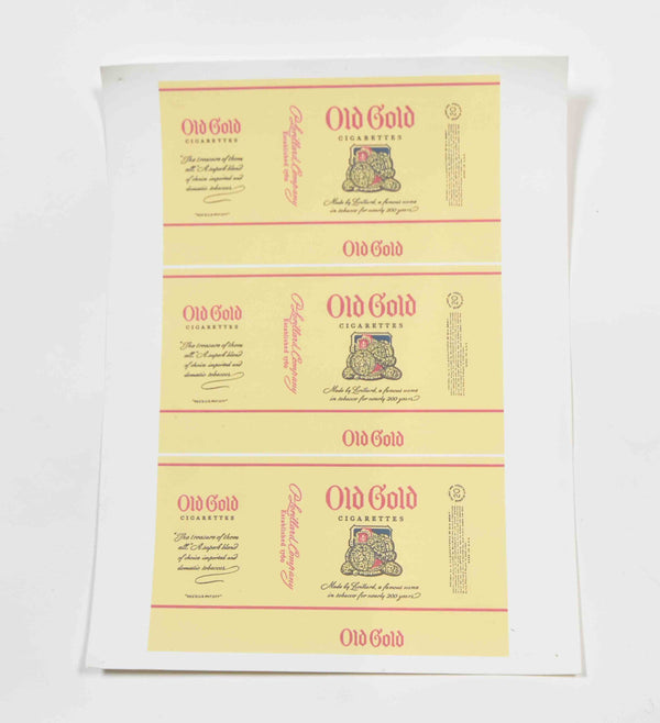 Mad Men: Old Gold Cigarettes Label Stickers-1