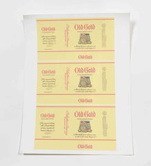Mad Men: Old Gold Cigarettes Label Stickers