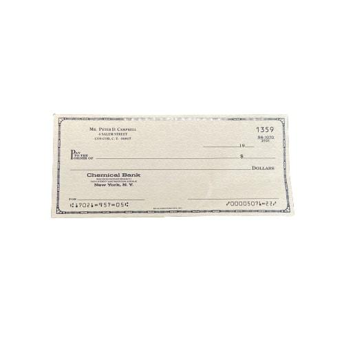 MAD MEN: Pete's Empty Chemical Bank Check-1
