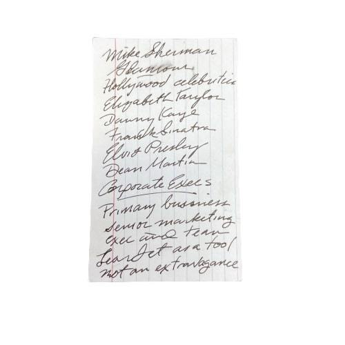MAD MEN: Pete's Corporate Dinner Planning List-1