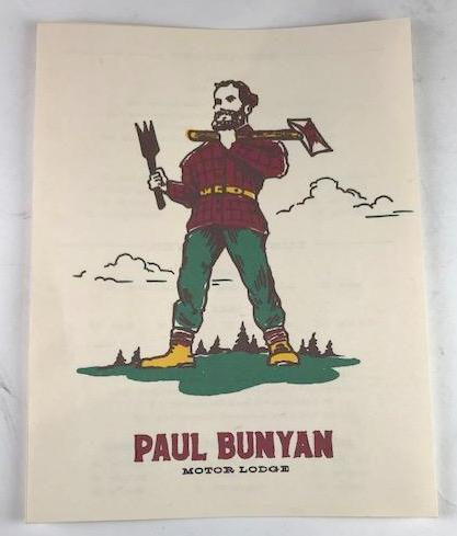 Mad Men Paul Bunyan Menu from Bobby's camp (Season 6, episode 8)