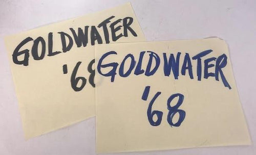Screenbid Media Company, LLC. - Mad Men small Goldwater '68 signs (2ct)