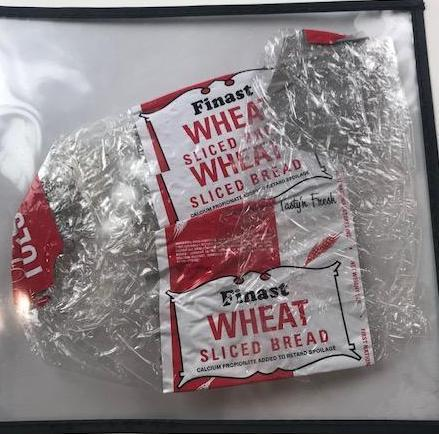 Finast Wheat sliced bread wrapper (Set dressing)