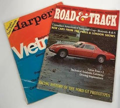 Mad Men Road & Track (1968) and Harper's (1967)