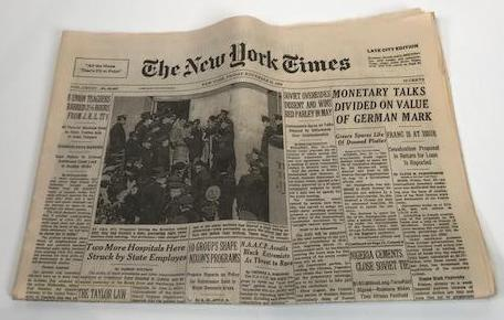 Screenbid Media Company, LLC. - Mad Men Prop New York Times from November 22, 1968