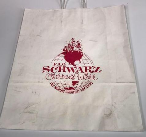 Mad Men F.A.O. Schwarz Toy Store prop paper bag-1