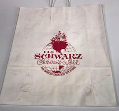 Mad Men F.A.O. Schwarz Toy Store prop paper bag
